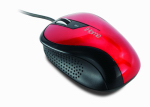 Lifeworks Technology Group IH-M1010R Ergonomic USB Desktop Mouse, Red