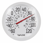 Taylor Precision Products 90050-000-000 8-Inch Diameter White Outdoor Dial Thermometer