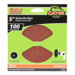 Ali Industries 3031 5-Pk., 5-In. 100-Grit Sanding Disc