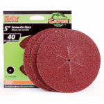 Ali Industries 3033 5-Pk., 5-In. 40-Grit Sanding Disc