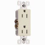 Pass & Seymour 885LACP8 10PK15A Almond Decorator or Decoration Outlet