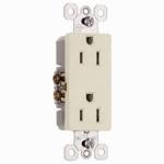 Pass & Seymour 885LACP8 2-Pole Premium Outlet, 15A, 125-Volt, 10-Pk.