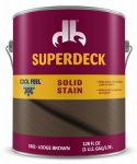 Duckback Products DPI053024-16 Cool Feel Wood Stain, Solid-Color, Lodge Brown, 1-Gal.