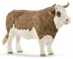 Schleich North America 13800 BRN/WHT Fleckvieh Bull