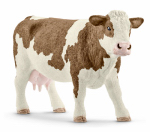 Schleich North America 13801 BRN/WHT Simmental Cow