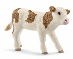 Schleich North America 13802 BRN/WHT Simmental Calf