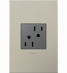 Pass & Seymour ARTR152M4 Tamper-Resistant Outlet, Magnesium, 15-Amp