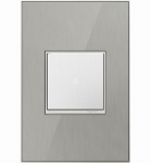 Pass & Seymour AWM1G2MS4 Wall Plate, 1-Gang, Brushed Stainless Mirror