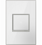 Pass & Seymour AWM1G2MW4 Wall Plate, 1-Gang, White Mirror