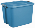 Sterilite 17424306 Latch Storage Tote, Blue, 20-Gal., Must Purchase in Quantities of 6