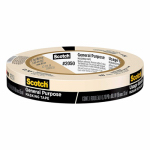 3M 2050-18A Painter's Masking Tape, 3/4-In. x 60-Yd.
