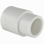 Genova Products 30117 PVC Pressure Pipe Fitting, Reducing Coupling, White PVC, 1 x 3/4-In.