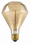 Globe Electric 84644 40W, Designer DIAMANTE Amber Bulb, Incandescent