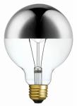Globe Electric 84650 40W, Designer Silver Chromeo Bulb, Incandescent