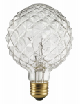Globe Electric 84637 40W, Designer  CRYSTALINA Clear Bulb, Incandescent