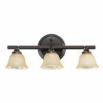 Globe Electric 58922 3-Light Halogen Track Lighting Bar, Crimson Coffee Finish