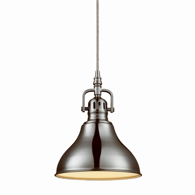Globe Electric 65440 Plug-In Pendant Light Fixture, Brushed