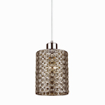 Globe Electric 65441 Plug-In Pendant Light Fixture, Chrome & Crystal