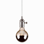 Globe Electric 65442 1-Light Plug-In Pendant, Chrome