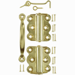 Hampton Products-Wright V29H Screen Storm Door Set, Brass Plated