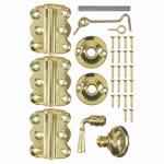 Hampton Products-Wright V321BR Vinyl Screen Door Kit or Kitchen - Brass Plate