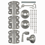 Hampton Products-Wright V321SN Vinyl Screen Door Kit or Kitchen - Satin Nickel