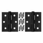 Hampton Products-Wright V35BL Steel Hinge 3 In. x 2.5 In. x 0.08 In., Black