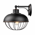 Globe Electric 65413 1-Light Caged Wall Sconce, Oil Rubbed Bronze