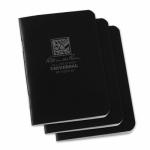 Rite In The Rain/ J L Darling 771FX-M Notebook, Side Stapled, Black, 3-1/4 x 4-5/8 in, 3-PK