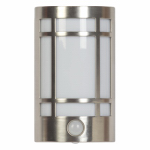 Globe Electric 8968301 LED Auto Soft White Night Light, Motion-Activated, Brushed Steel