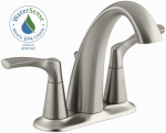 Kohler/Sterling R37024-4D-BN Mistos Lavatory Faucet, Double Handle, Brushed Nickel
