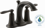 Kohler/Sterling R45780-4D-2BZ Linwood Lavatory Faucet, Double Handle, Oil Rubbed Bronze