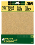 3M 9005 Assorted-Grit Aluminum Oxide Sandpaper, 9 x 11-In., 5-Pk.