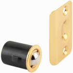 Prime Line Products 163133 Closet Door Drive-In Ball Catch With Strike, Brass-Plated