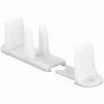 Prime Line Products 163236 Sliding Closet Door Bottom Guide, White, 2-1/8 In.