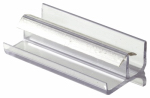 Prime Line Products 193086 Shower Door Bottom Guide, Clear Vinyl, 3-In.