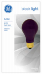 G E Lighting 25905 60-Watt Black A-Line Light Bulb