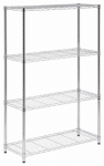 Honey Can Do Intl SHF-01906 Shelving Unit, Chrome Steel, 4-Tier
