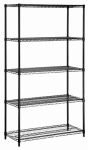 Honey Can Do Intl SHF-06831 Shelving Unit, Black Steel, 5-Tier