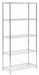Honey Can Do Intl SHF-06832 Shelving Unit, Chrome Steel, 5-Tier