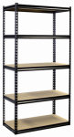 Jaken SCB1505W Shelving Unit, 5 Shelves, Heavy-Duty Steel, 18 x 36 x 72-In.