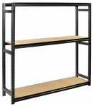 Jaken SCB6200W Shelving Unit, 3 Shelves, Steel, 18 x 72 x 72-In.