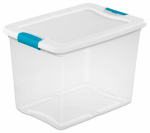 Sterilite 14958006 Latching Storage Box, 25-Qt.