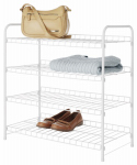 Whitmor 6023-4139-CB 4-Tier Closet Shelf, White, 11.63 x 22.75 x 23.75-In.