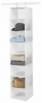 Whitmor 6044-285 Hanging Accessory Shelf, Vinyl, Clear
