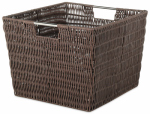 Whitmor 6500-1715-JAVA Rattique Storage Tote, Java, 13 x 15 x 9.8-In.