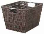 Whitmor 6500-1717-JAVA Rattique Storage Tote, Java, 9.88 x 12.63 x 7.9-In.