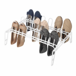 Whitmor 6780-5440-WHT Floor Shoe Rack, Resin, White, 16 x 22.5 x 9-In.
