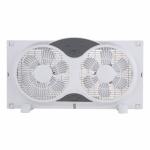 Ningbo Konwin Electrical Appliance WF-008R 3-Speed Twin Window Fan, 9-In.