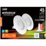 Feit Electric LEDR4/827/MED/2/RP LED Retrofit Kit, Dimmable, 4-In., 9-Watts, 2-Pk.